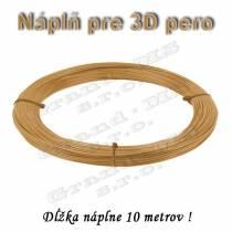 Náplň pre 3D pero, ABS - 1,75 mm - zlatá (cena za 10 m)