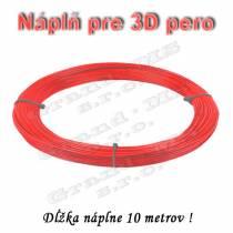 Náplň pre 3D pero, PLA - 1,75 mm - červená (cena za 10 m)
