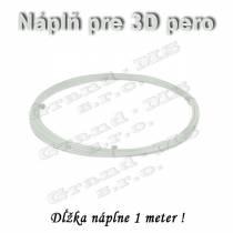 Náplň pre 3D pero, ABS - 1,75 mm - biela (cena za 1 m)