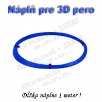 Náplň pre 3D pero, ABS - 1,75 mm - modrá (cena za 1m)