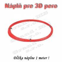 Náplň pre 3D pero, ABS - 1,75 mm - červená (cena za 1m)