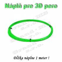 Náplň pre 3D pero, ABS - 1,75 mm - zelená (cena za 1 m)