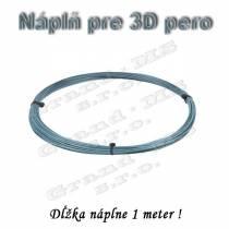 Náplň pre 3D pero, ABS - 1,75 mm - strieborná (cena za 1 m)