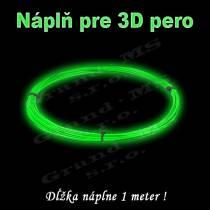 Náplň pre 3D pero, ABS - 1,75 mm - svietiaca (cena za 1 m)