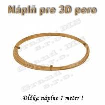 Náplň pre 3D pero, ABS - 1,75 mm - zlatá (cena za 1 m)
