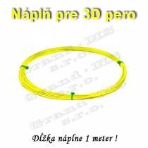 Náplň pre 3D pero, PLA - 1,75 mm - žltá (cena za 1 m)