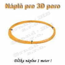 Náplň pre 3D pero, PLA - 1,75 mm - oranžová (cena za 1 m)