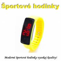 Športové digitálne hodinky QUEEN-US 0218, žlté